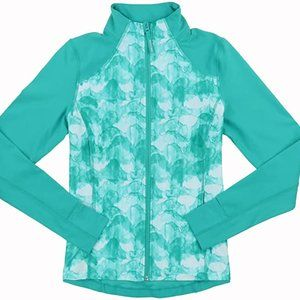 Mondetta yoga teal watercolour ActiveWear jacket